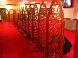 Night-1-Masjid-Toronto-at-Adelaide-beautifully-crafted-wooden-divider-on-wheels-Monday-July-8-2013