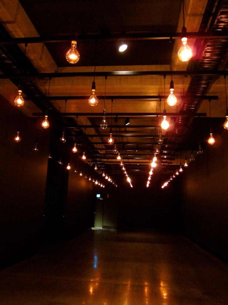 light bulbs in dark room